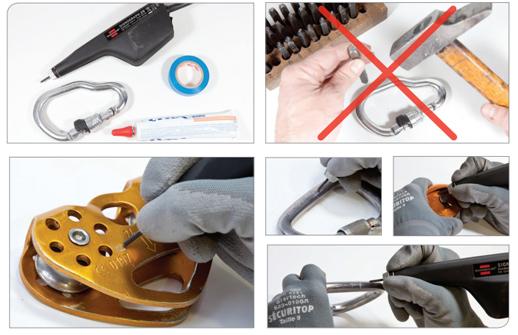 Engraving Petzl Equipment