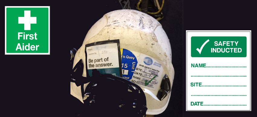 421b6ac1872cb Can you put stickers on safety helmets  How   where to mark PPE. -