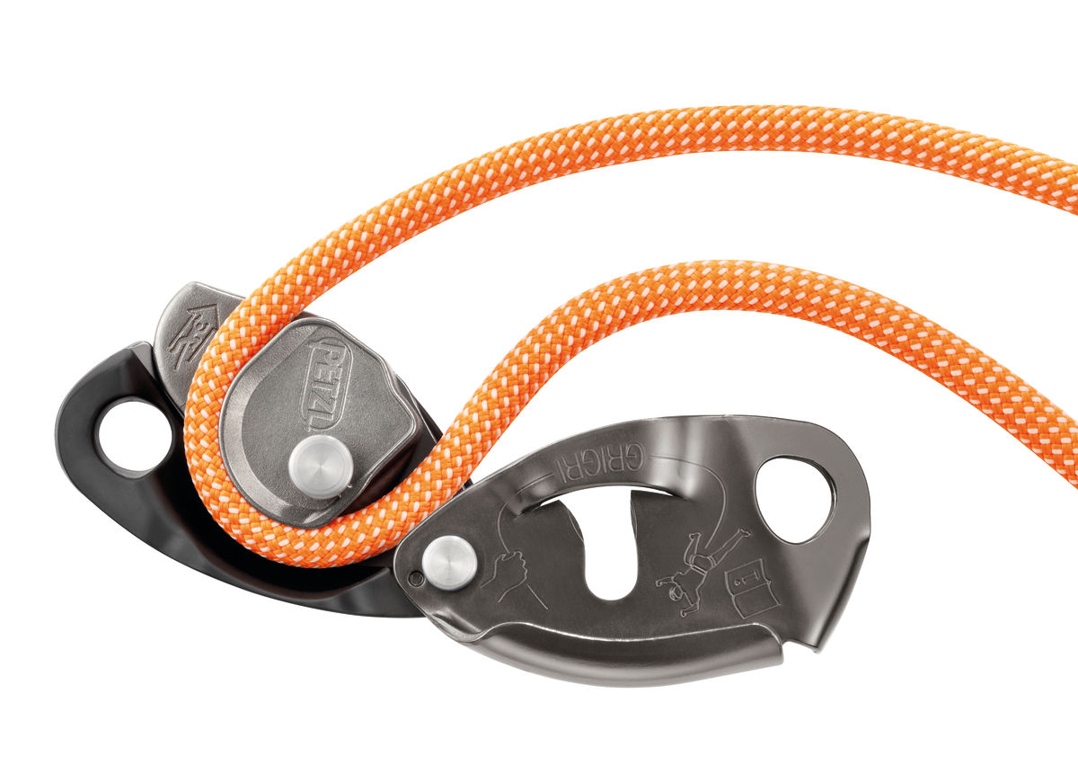 Petzl GRIGRI2 D14BG cam and rope installation