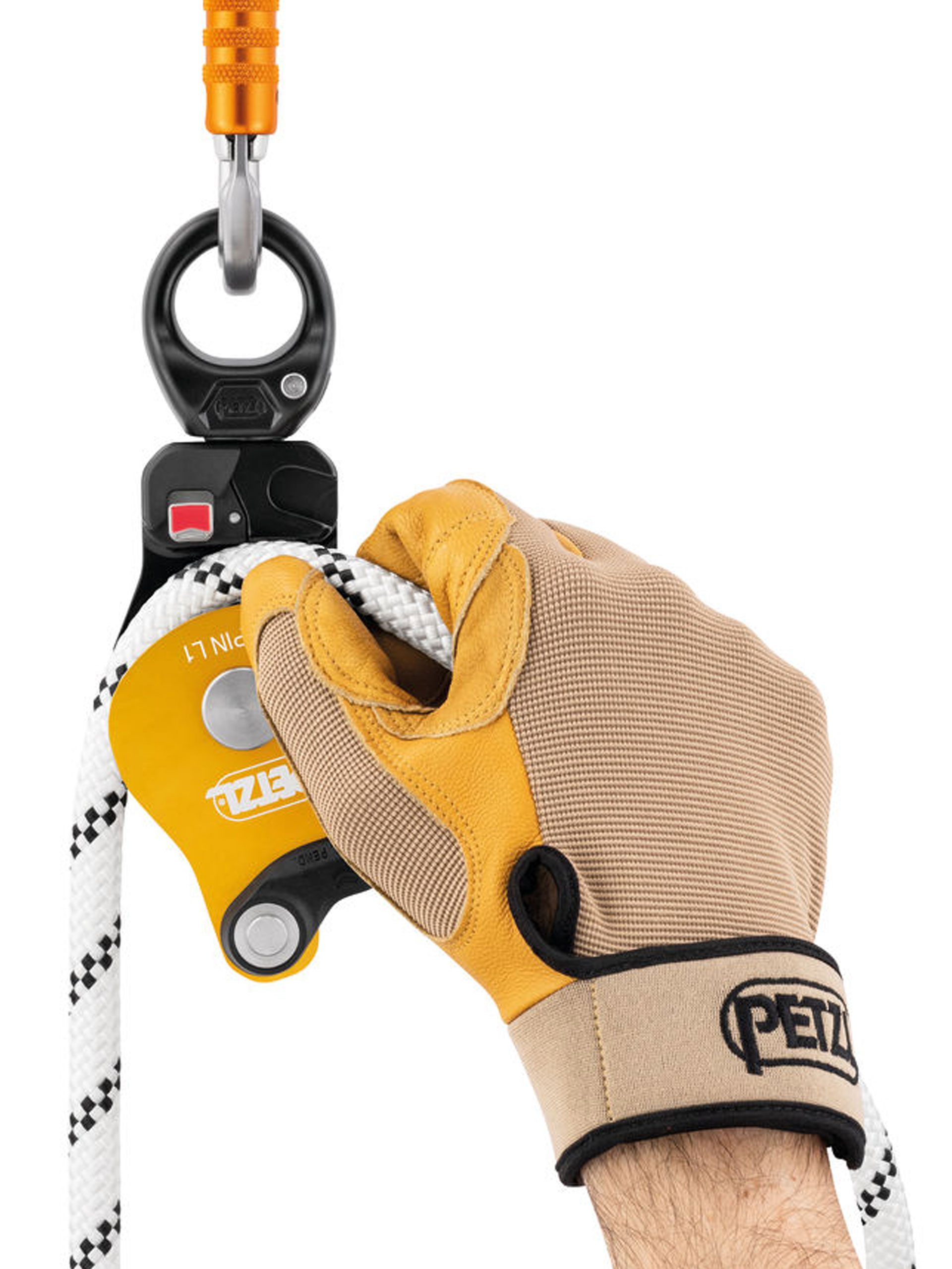 Petzl L1 pulley open