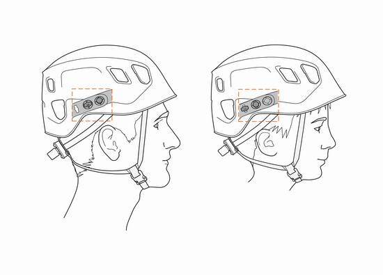 New 2021 Petzl Panga helmet showing size adjustment